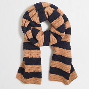 J CREW Striped Knit Scarf